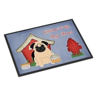 Carolines Treasures BB2762MAT Dog House Collection Pug Fawn Indoor or Outdoor Mat 18 x 0.25 x 27 in.