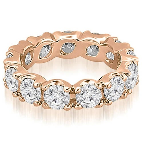 14K Rose Gold 4.25 cttw. Round Diamond Eternity Ring HI,SI1-2