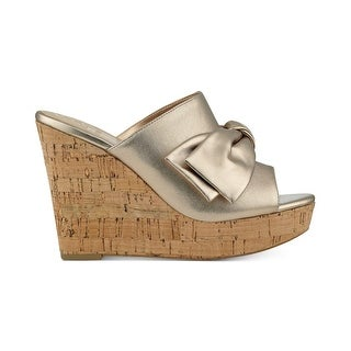GUESS Womens HOTLOVE Leather Open Toe Casual Platform Sandals