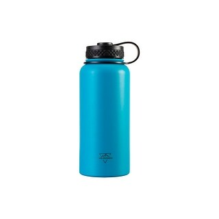 Pure Outdoor Vacuum Sealed 32 fl. oz. Wide-Mouth Water Bottle, Blue