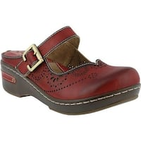 L'Artiste by Spring Step Women's Aneria Clog Red Leather