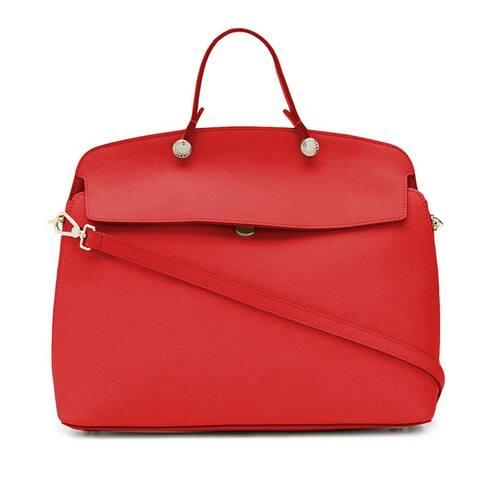Furla Womens My Piper Tote Handbag Vermiglio Red Small