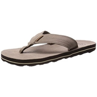 Freewaters Mens Dillon Suede Casual Flip-Flops - 7