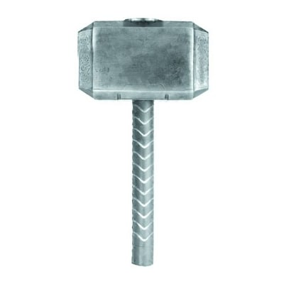 Thor Hammer Pewter Lapel Pin - Silver