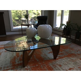 poly and bark sculpture hardwood coffee table - free shipping