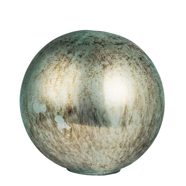 "12"" Green Large Contemporary Style Accent Ball - N/A"