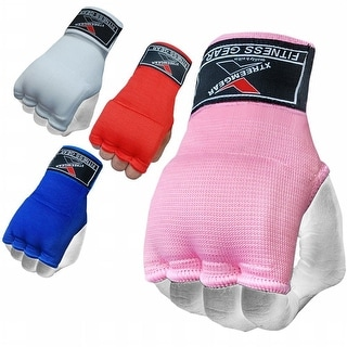 Training Boxing Inner Gloves Hand Wraps MMA Fist Protector Bandages Mitts G100-Pink