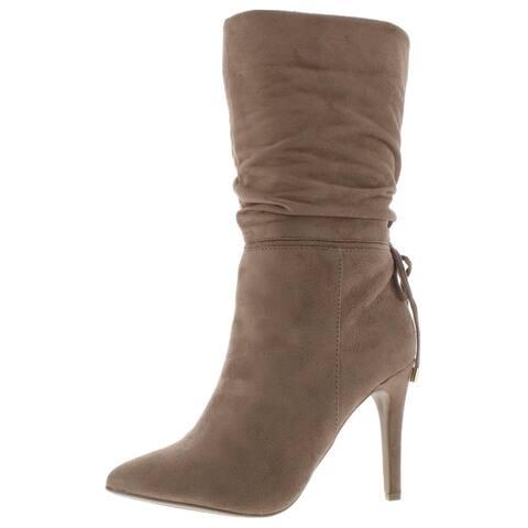 Zigi Soho Womens Jeenie Mid-Calf Boots Faux Suede Slouchy