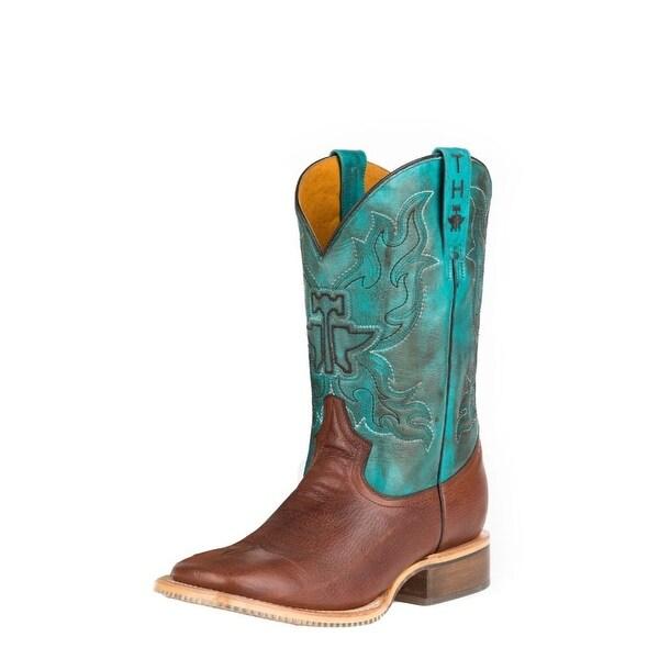 Tin Haul Western Boot Mens Cowboy Classic Wide Tan