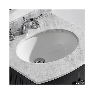 """Miseno MNO1714OU 17-3/8"""" Undermount Bathroom Sink with Overflow (Mounting Clips Included) - White - N/A"""