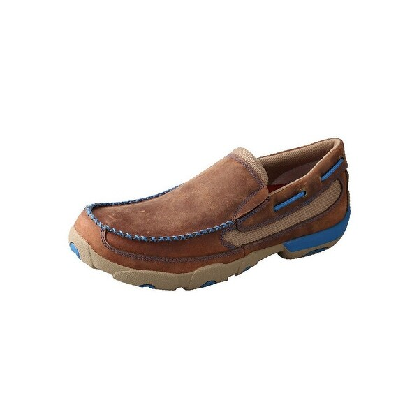Twisted X Casual Shoes Mens Slip On Driving Moc Oiled Saddle