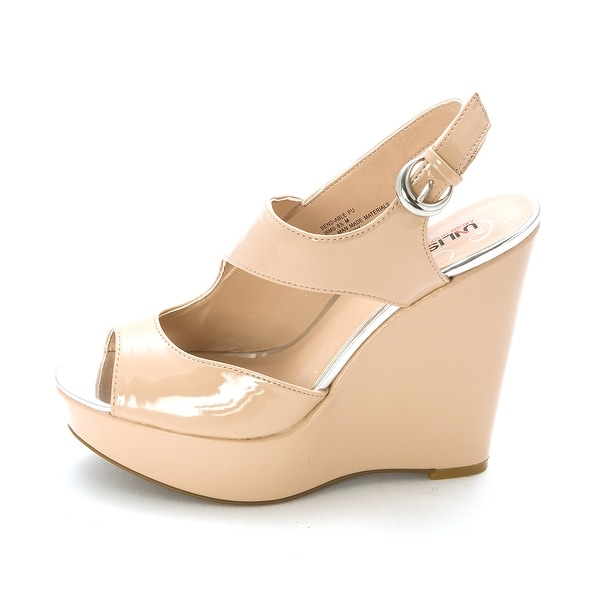 Unlisted Womens Bend-able Peep Toe Casual Platform Sandals