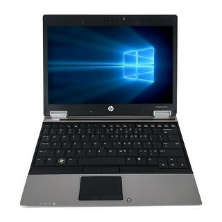 Refurbished HP EliteBook 2540P 12.1'' Laptop Intel Core i5-520M 2.4G 4G DDR3 160G Win 10 Pro 1 Year Warranty - Black