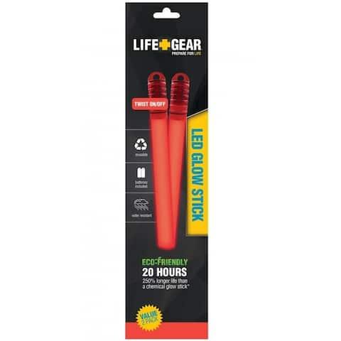 Life Gear LG11-10222-SA2 LED Glow Stick, Red
