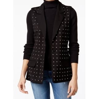 Fair Child NEW Black Womens Size Medium M Studded Cutout Vest Jacket|https://ak1.ostkcdn.com/images/products/is/images/direct/8abbf453872300729225663b4e97764ab84b6401/Fair-Child-NEW-Black-Womens-Size-Medium-M-Studded-Cutout-Vest-Jacket.jpg?impolicy=medium