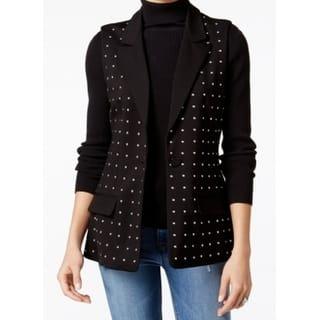Fair Child NEW Black Womens Size Medium M Studded Cutout Vest Jacket|https://ak1.ostkcdn.com/images/products/is/images/direct/8abbf453872300729225663b4e97764ab84b6401/Fair-Child-NEW-Black-Womens-Size-Medium-M-Studded-Cutout-Vest-Jacket.jpg?impolicy=medium