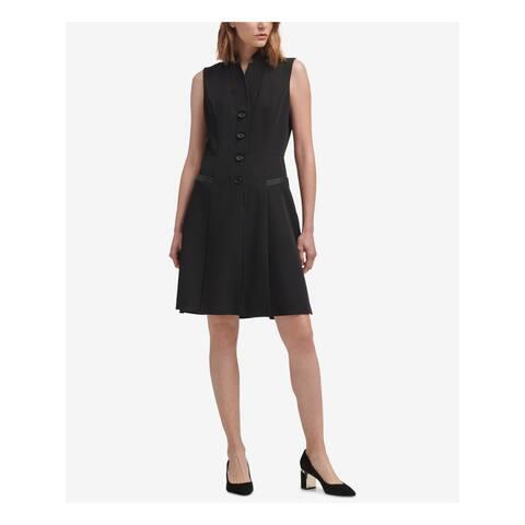 DKNY Black Sleeveless Above The Knee A-Line Dress Size 4