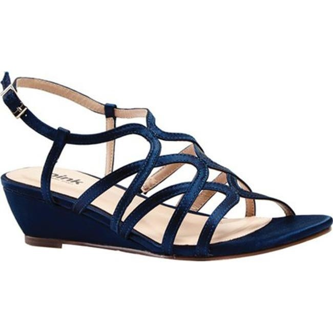 8e1f522bc Shop Pink Paradox London Women's Opulent Wedge Sandal Navy Satin - Free  Shipping Today - Overstock - 12267645