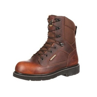 Georgia Boot Work Mens Glennville Waterproof CT Leather Brown GB00035