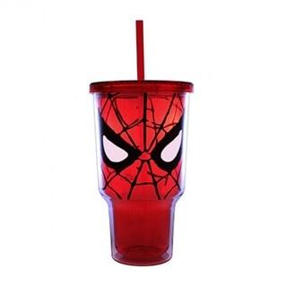 Silver Buffalo MC7017 Marvel Spiderman Eyes Plastic Cold Cup, 32 Oz