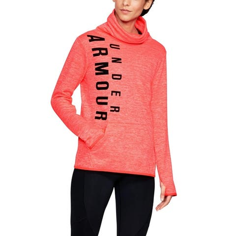 Under Armour Women's Storm Armour Fleece Graphic Logo Top Red Size Small
