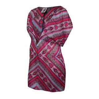 Becca by Rebecca Virtue Women's Printed Chiffon Tunic Coverup - multi (4 options available)