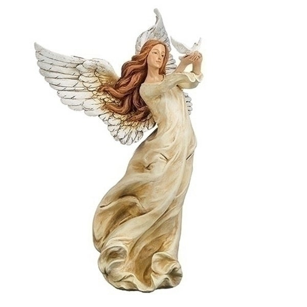 "10"" Amazing Grace Angel Holding a Dove - N/A"