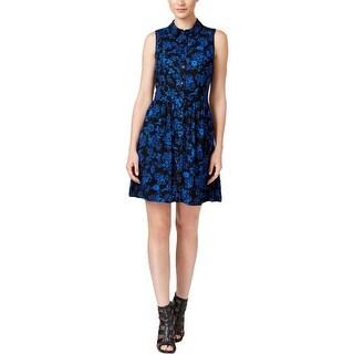G.H. Bass & Co. Womens Juniors Casual Dress Sleeveless Floral Print