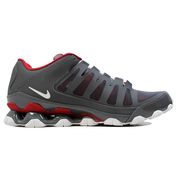 Shop Nike Men s Reax 8 TR Mesh Dark Grey Dark Grey-Gym Red 621716 ... 0b8ef534e