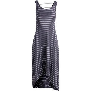 Marc New York by Andrew Marc Womens Maxi Striped Performance Dress