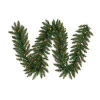 "9' x 14"" Pre-Lit Camdon Fir Artificial Christmas Garland - Multi LED Lights"