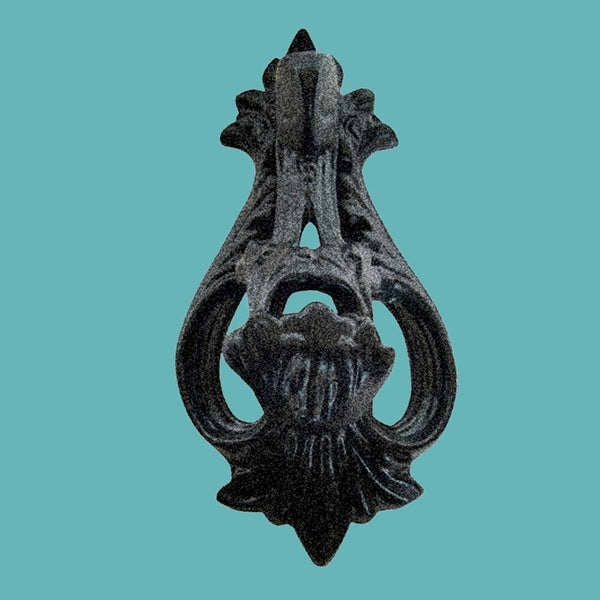 Door Knocker Black Cast Iron Brand New 8 1/2 H x 2 W