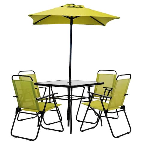 Patio Premier 6pc Patio Set - Square Table - Pepper Stem