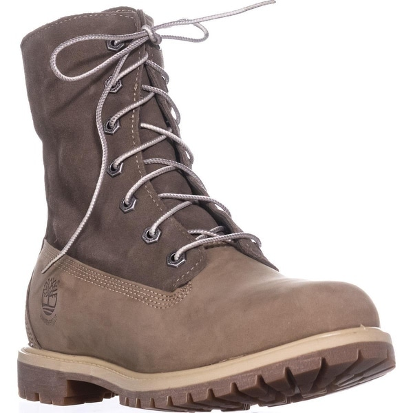 Timberland Teddy Fleece Lace-Up Boots, Light Brown