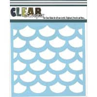 "Fish Scales - Clear Scraps Stencils 6""X6"""