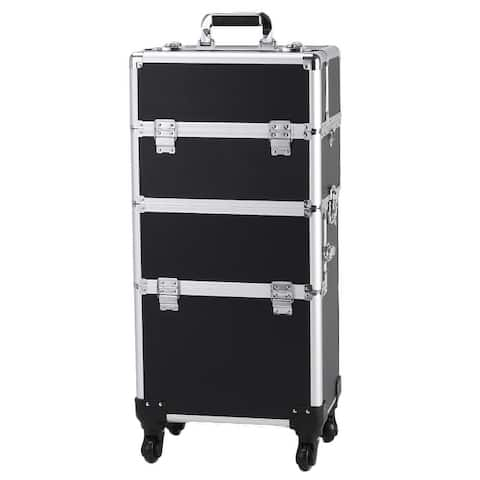 Professional Rolling Train Cases Makeup Artist Cosmetic Trolley Cosmetic Case