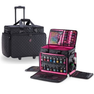 Link to KIOTA Cosmetic Makeup Trolley Wheels Case w/ removable Storage Pouch Similar Items in Computer Accessories