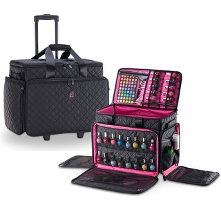 Link to KIOTA Cosmetic Makeup Trolley Wheels Case w/ removable Storage Pouch Similar Items in Makeup Brushes & Cases