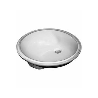 "Sloan SS-3001 19-1/2"" Undermount Bathroom Sink with Overflow - White - N/A"