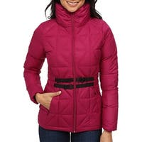 The North Face Pink Womens Size Medium M Belted Mera Quilted Jacket