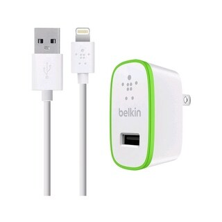 Belkin - BOOST UP Apple 8-Pin Lightning Home Charger - White