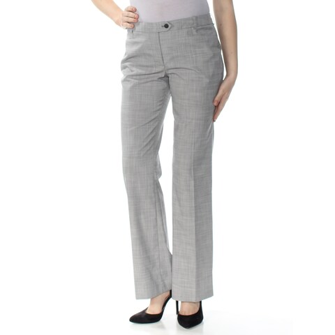 CALVIN KLEIN Womens Gray Boot Cut Wear To Work Pants Size: 6