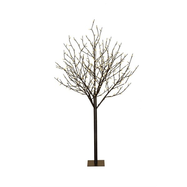 6' Black Electrically-Powered LED Lights Tree with Multi-Function Controller - N/A