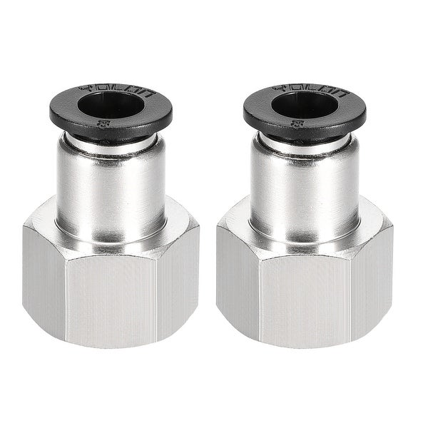 Push to Connect Tube Fitting Adapter 8mm OD x 3/8 NPT Straight Connecter 2pcs