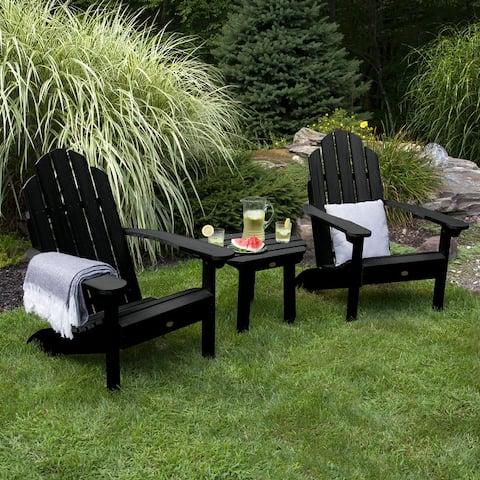 Highwood 2 Classic Westport Adirondack Chairs,1 Classic Westport Side Table