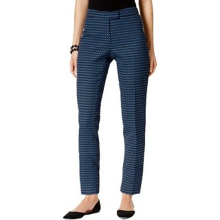 Anne Klein Womens Ankle Pants Textured Pattern