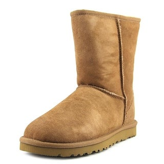 Ugg Australia Classic Short Women Round Toe Suede Tan Winter Boot