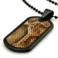 Tungsten Snake Anaconda Print Dog Tag ID Pendant - 24 inches - Thumbnail 1