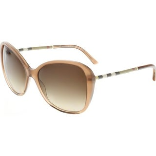 Burberry Women's Gradient BE4235Q-317313-57 Brown Oval Sunglasses