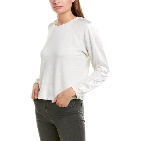 Monrow Satin Stripe Pullover